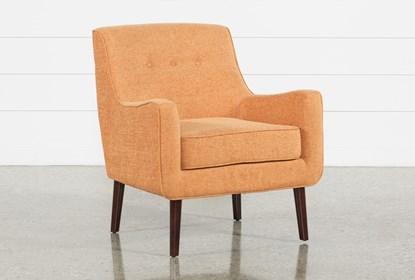 Tremendous Kendra Orange Accent Chair Onthecornerstone Fun Painted Chair Ideas Images Onthecornerstoneorg