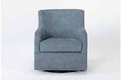 Katrina Blue Swivel Glider Chair