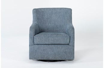 Katrina Blue Swivel Glider Chair