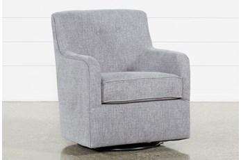 Katrina Grey Swivel Glider Chair