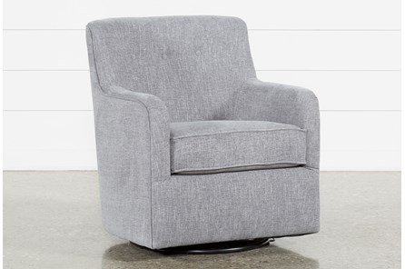 Katrina Grey Swivel Glider Chair
