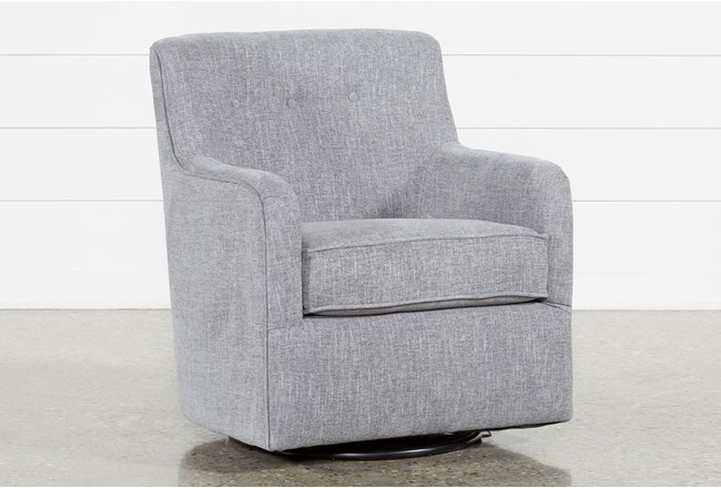 Katrina Grey Swivel Glider Chair - 360