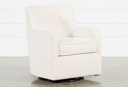 Katrina Beige Swivel Glider Chair
