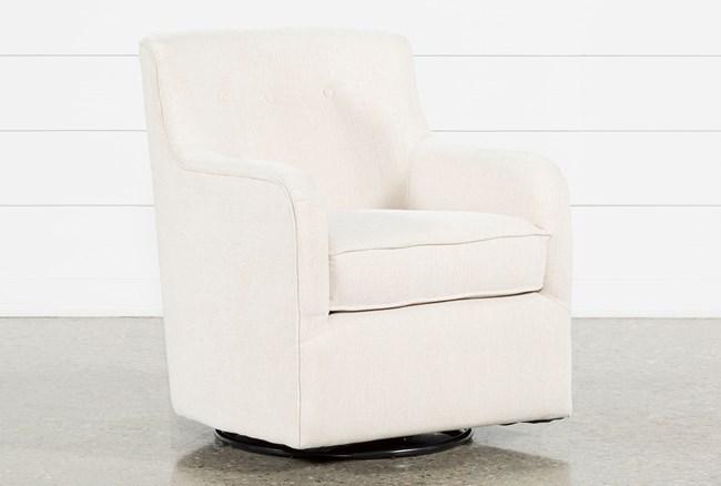 Katrina Beige Swivel Glider Chair - 360