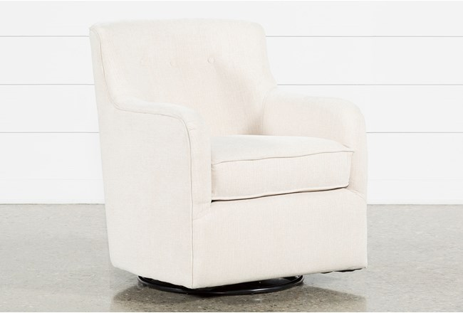 Katrina Beige Swivel Glider Chair Living Spaces