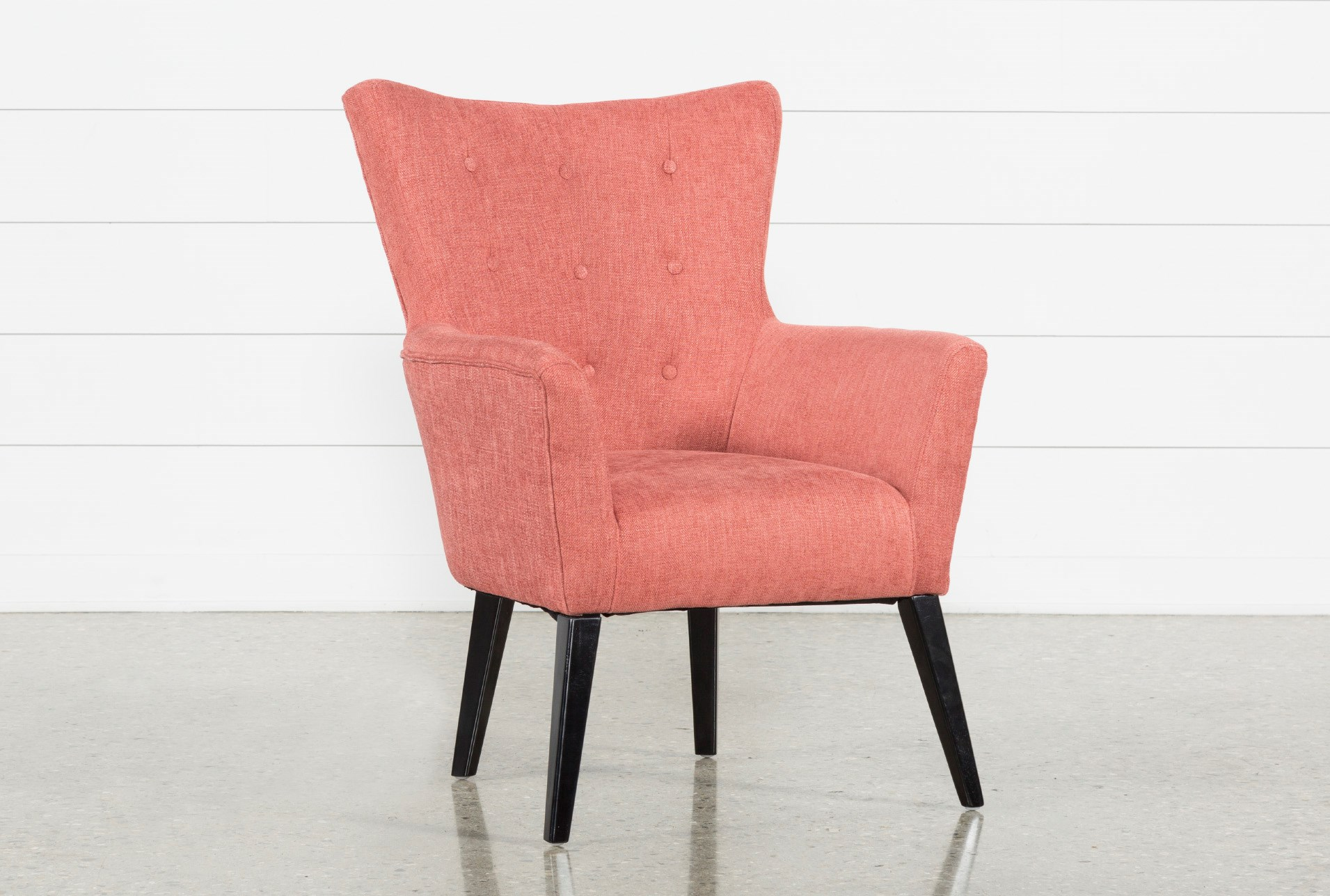 Accent Chairs.Kelsey Coral Accent Chair Living Spaces
