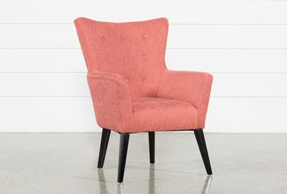Excellent Kelsey Coral Accent Chair Evergreenethics Interior Chair Design Evergreenethicsorg