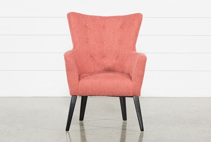 Miraculous Kelsey Coral Accent Chair Evergreenethics Interior Chair Design Evergreenethicsorg