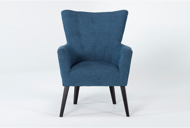 Kelsey Denim Blue Accent Chair - 360