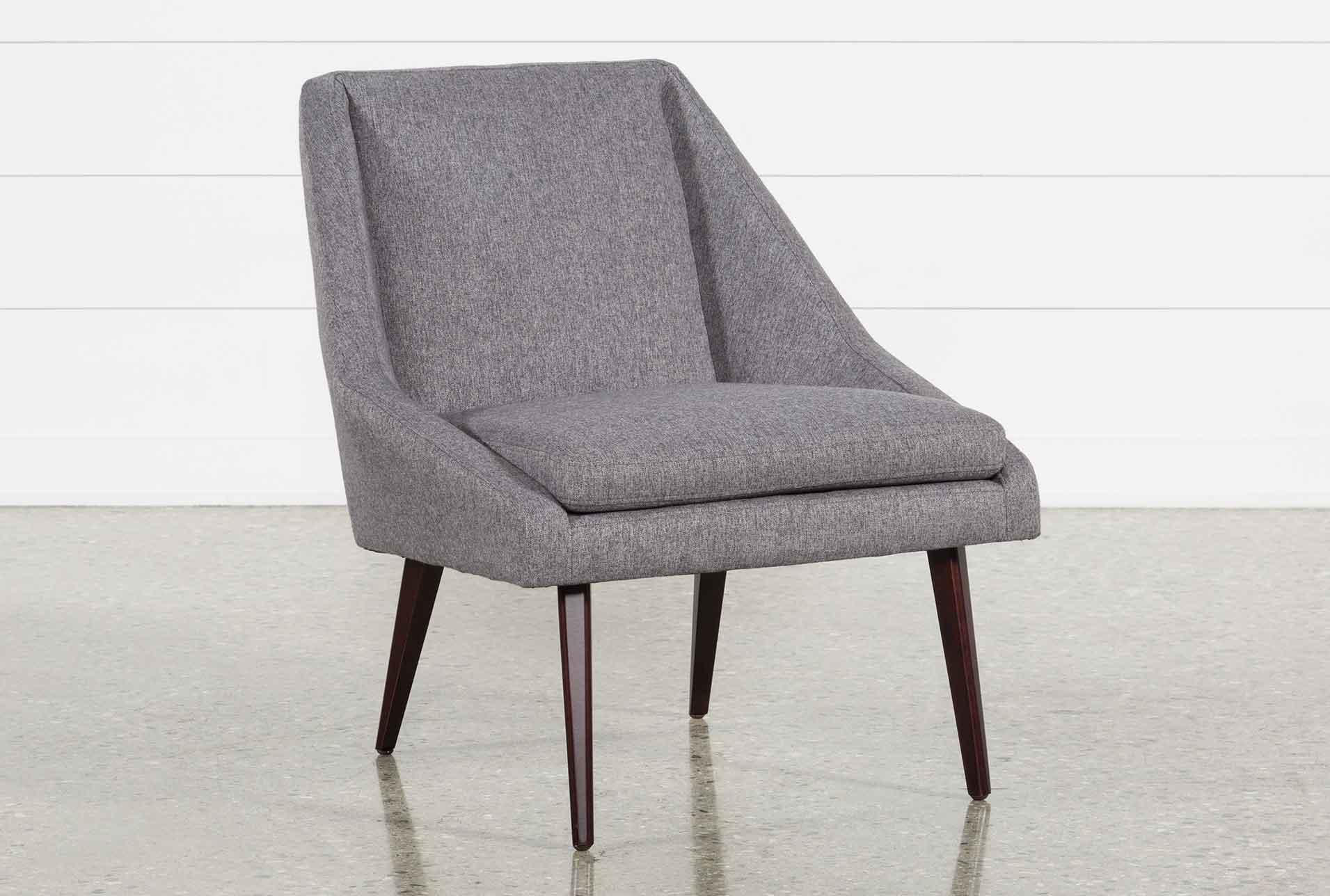 Keisha Grey Accent Chair   360