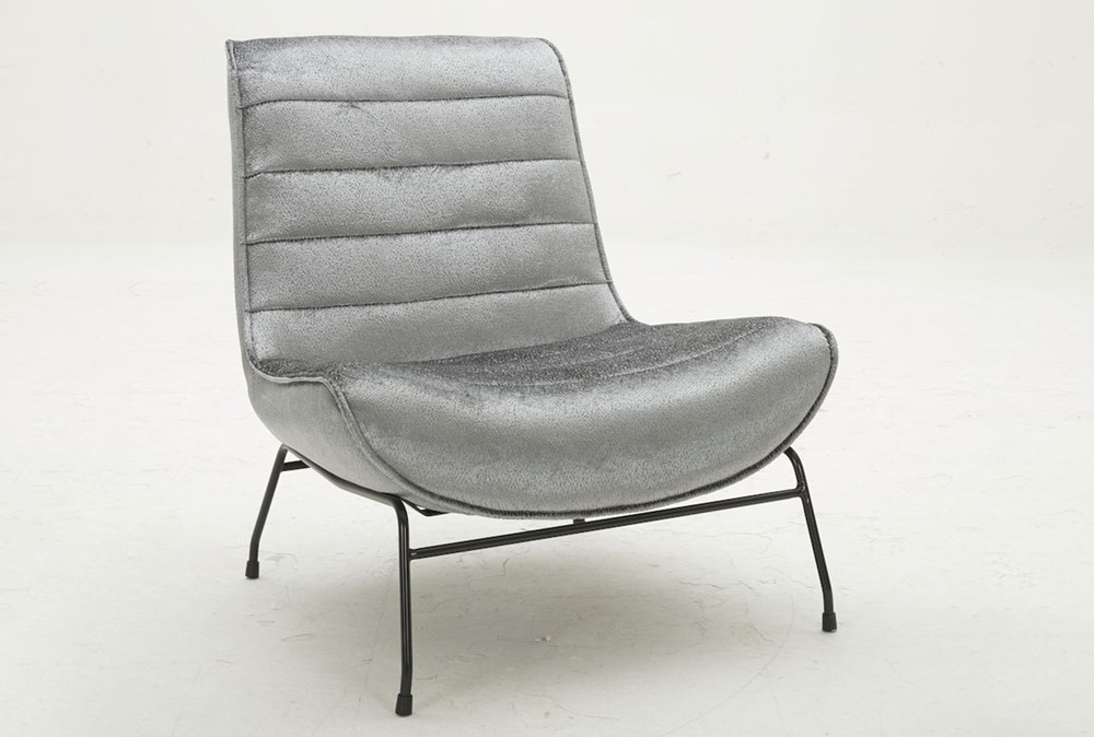 Grey Luxe Armless Chair Living Spaces
