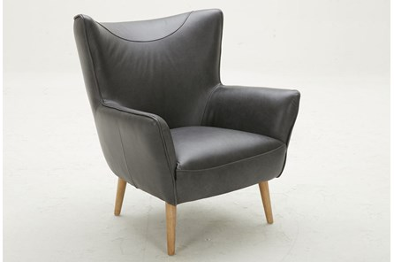 Black Leather Wing Chair