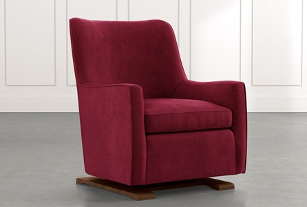 Bailey Burgundy Angled Track Arm Swivel Glider