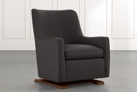 Bailey Black Angled Track Arm Swivel Glider