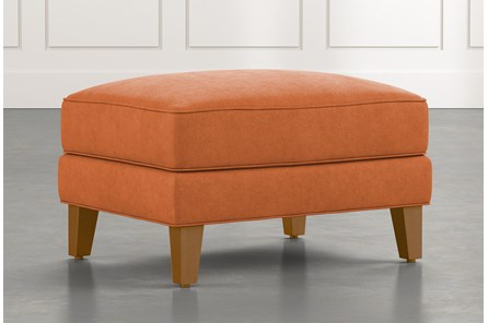 Abigail II Orange Ottoman