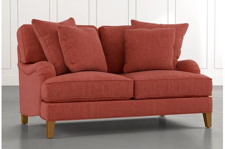 Abigail II Red Loveseat