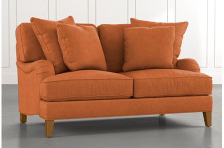 Abigail II Orange Loveseat