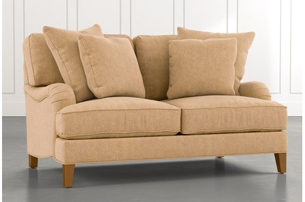 Abigail II Yellow Loveseat