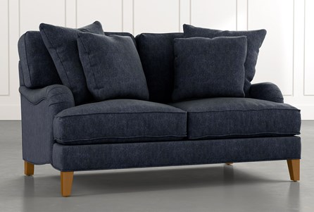 Abigail II Navy Blue Loveseat