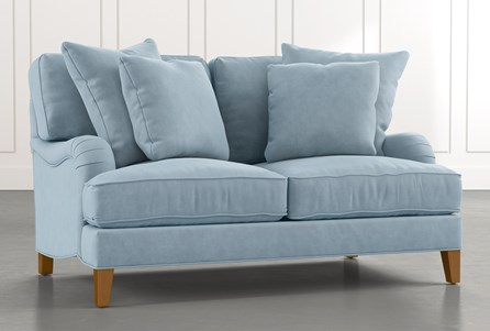 Abigail II Light Blue Loveseat
