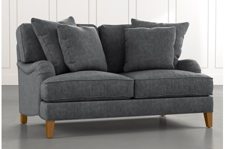 Abigail II Dark Grey Loveseat