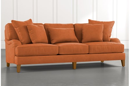 Abigail II Orange Sofa