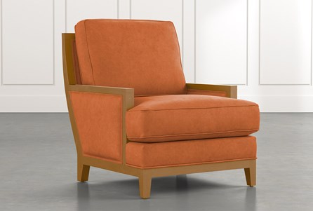 Abigail II Orange Accent Chair