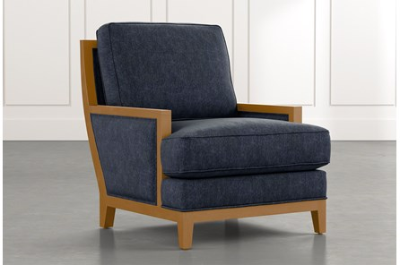 Abigail II Navy Blue Accent Chair