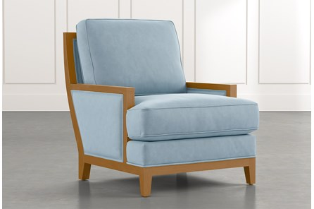 Abigail II Light Blue Accent Chair