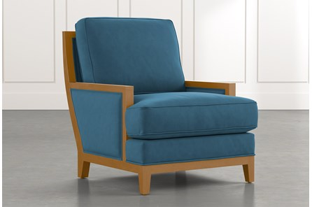 Abigail II Teal Accent Chair