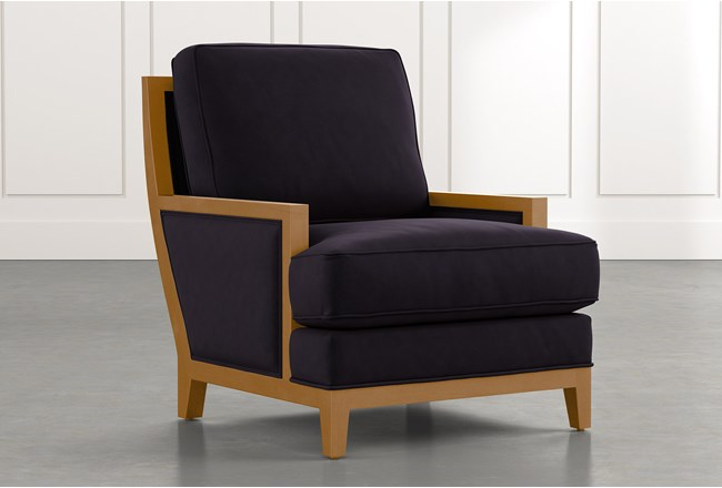 Abigail II Black Accent Chair - 360