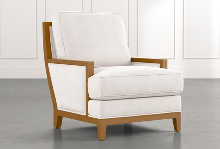 Abigail II White Accent Chair