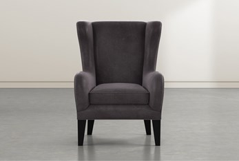 Anabelle Steel II Wing Chair