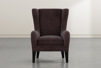 Anabelle Coffee II Wing Chair