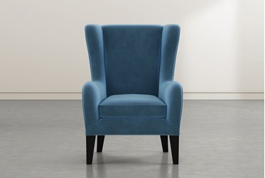 Anabelle Navy II Wing Chair