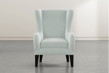 Anabelle Teal II Wing Chair