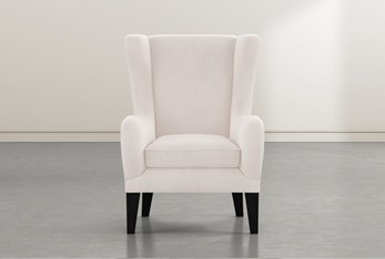 Anabelle Linen II Wing Chair