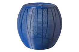 Blue Wired Stool