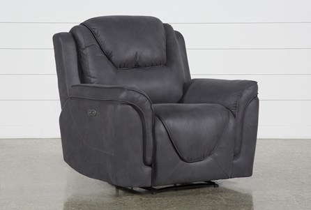 Denver Dark Grey Power Recliner With Power Headrest