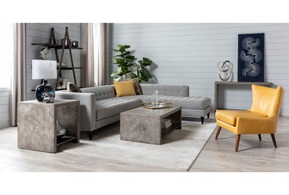 Tate III 2 Piece Sectional With Right Facing Armless Chaise