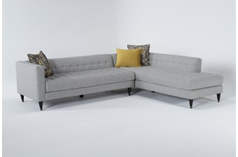 "Tate III 2 Piece 109"" Sectional With Right Facing Armless Chaise"