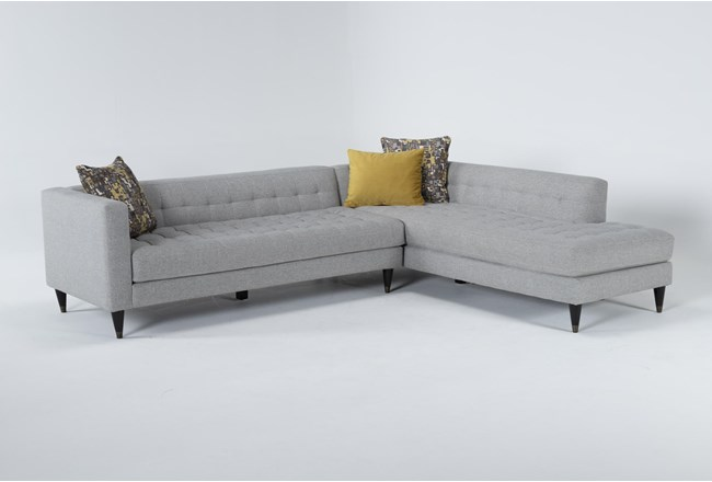 """Tate III 2 Piece 109"""" Sectional With Right Facing Armless Chaise - 360"""