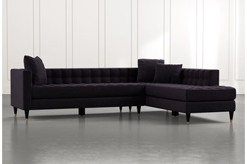 Tate Black 2 Piece Sectional