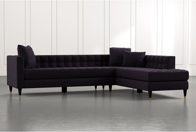 Tate Black 2 Piece Sectional - 360