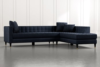 Tate Navy Blue 2 Piece Sectional