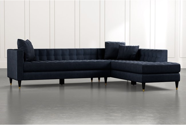 Tate Navy Blue 2 Piece Sectional - 360
