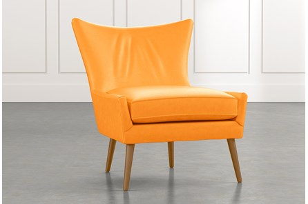 Tate II Orange Leather Accent Chair