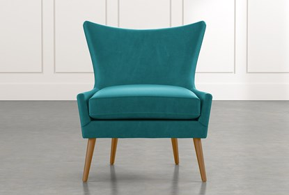 Pleasing Tate Ii Teal Leather Accent Chair Lamtechconsult Wood Chair Design Ideas Lamtechconsultcom