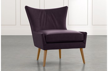 Tate II Purple Leather Accent Chair
