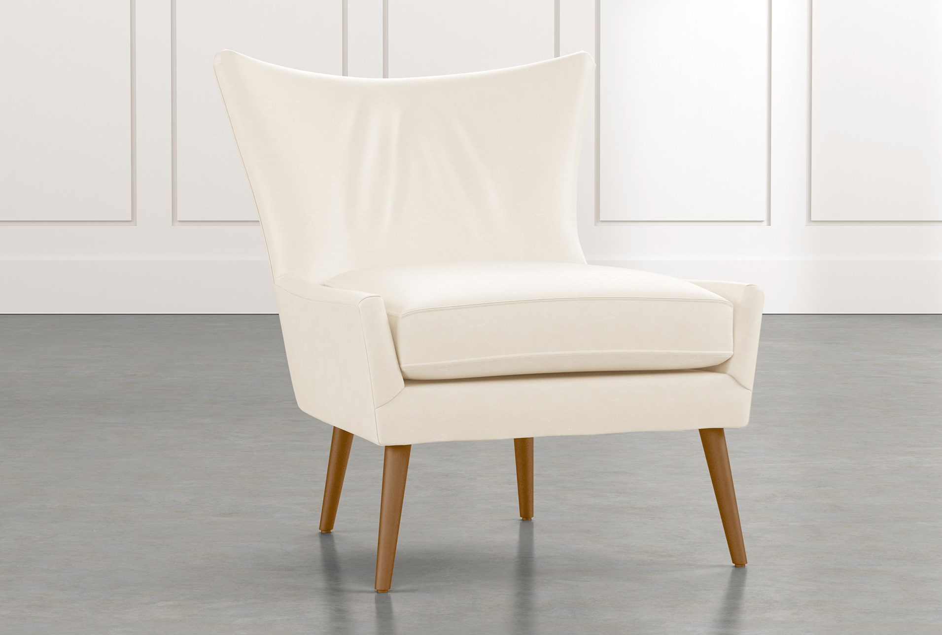 Tate Ii White Leather Accent Chair Living Spaces